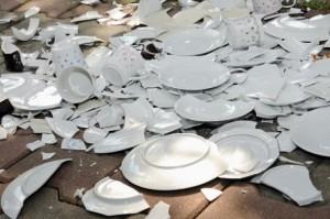 breaking plates