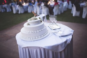 Three Tier Wedding Cake with Creme