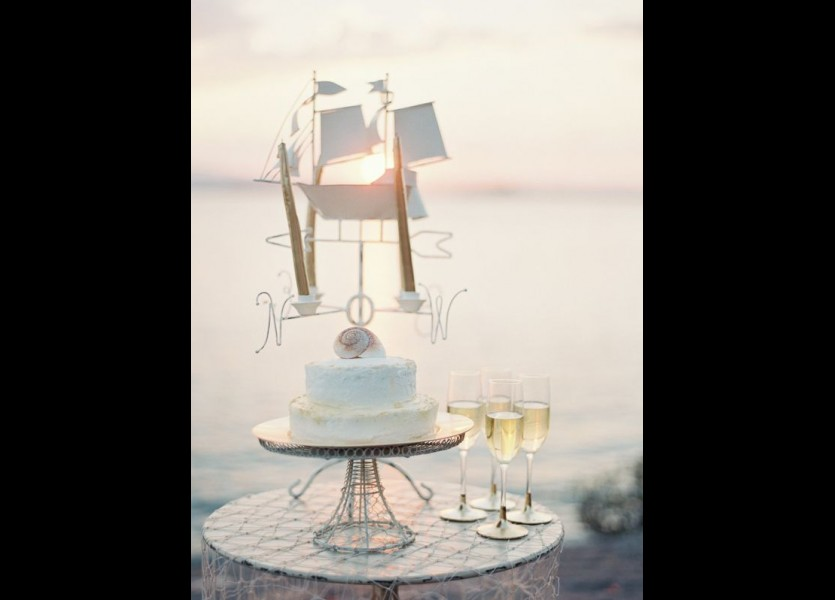 Nautical Wedding Cake in Chalkidiki