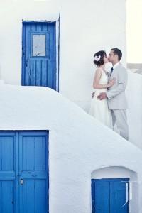 Amazing Wedding in Santorini Island