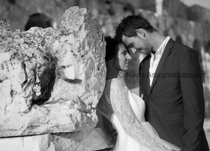 Black and White Wedding Shooting in Athens
