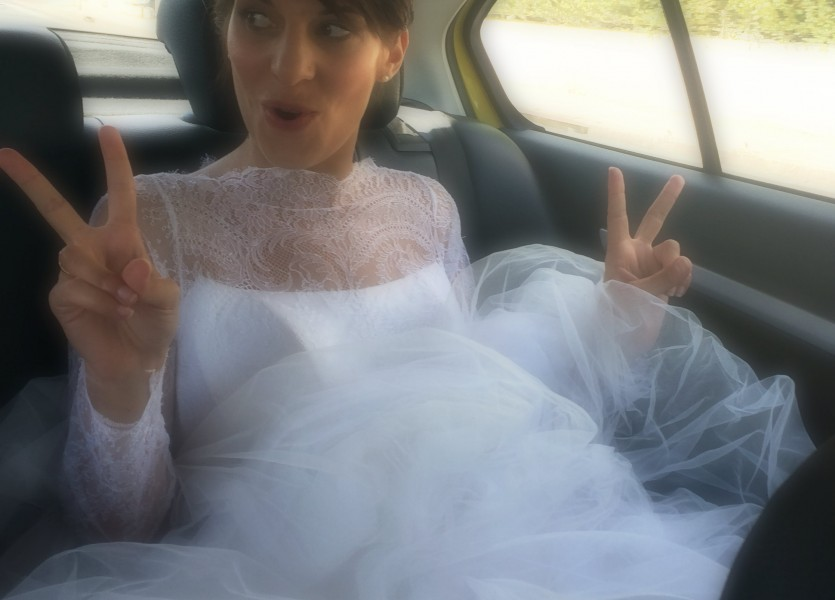 Enthousiastic bride