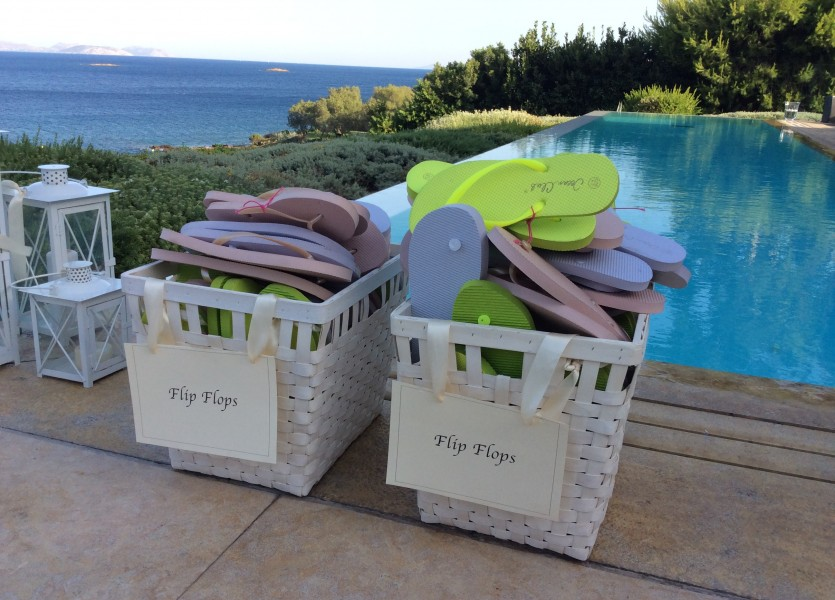 Flip Flops for the Guests - Wedding in Athens