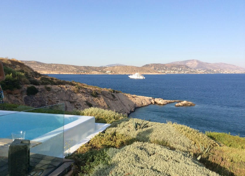 The view of the wedding venue in Athens
