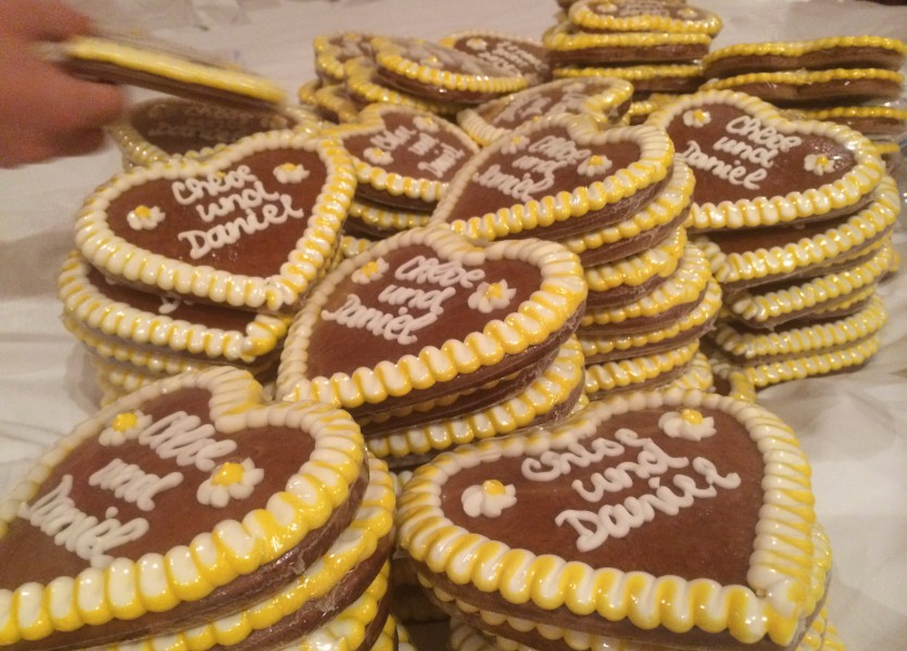 German Gingerbreads as a wedding favor