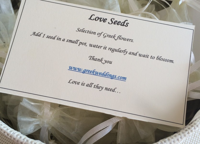 Love Seeds as a Wedding Gift