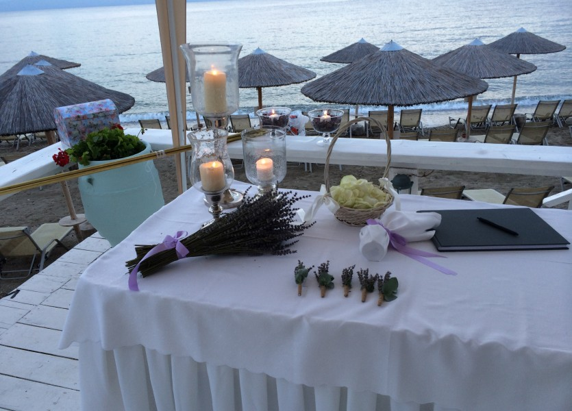 Beach Wedding Wish Table