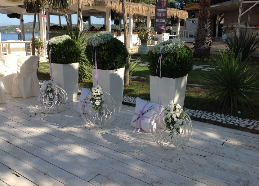 Wedding Decoration in Chalkidiki