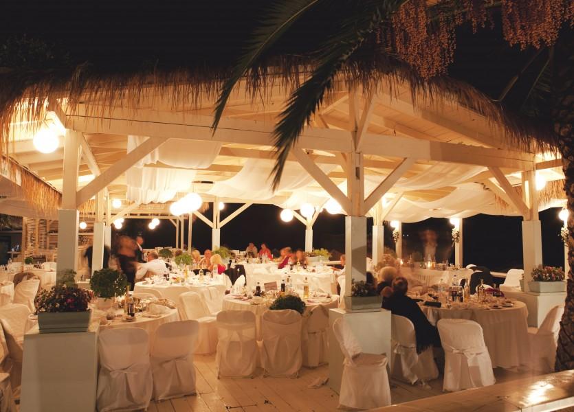 White Linen Beach Wedding Venue.