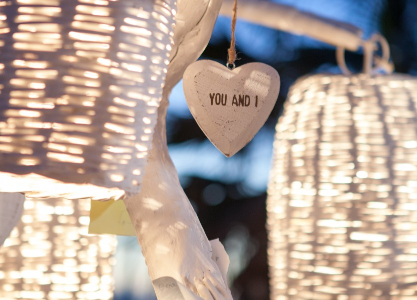 White Wooden Lanterns Beach Wedding in Greece