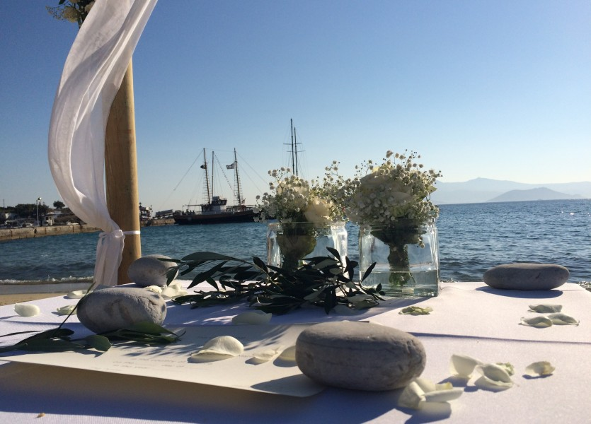 Ceremony Table in Naxos Wedding