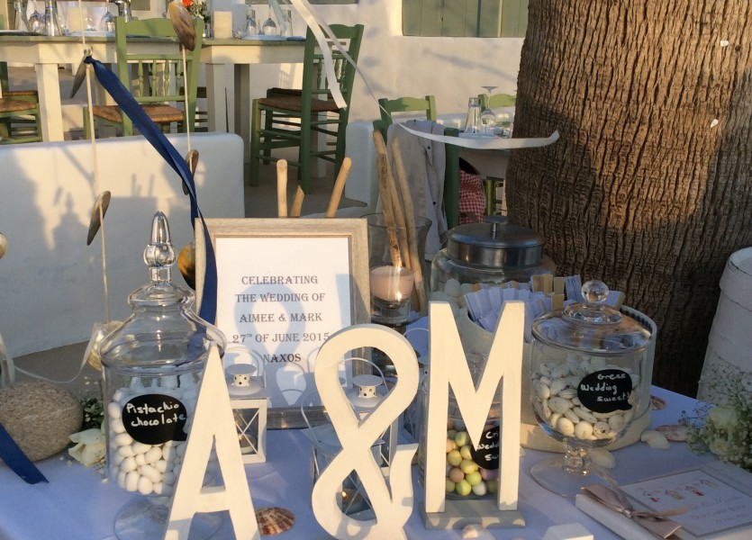 Wish table. Greek Wedding Planner.