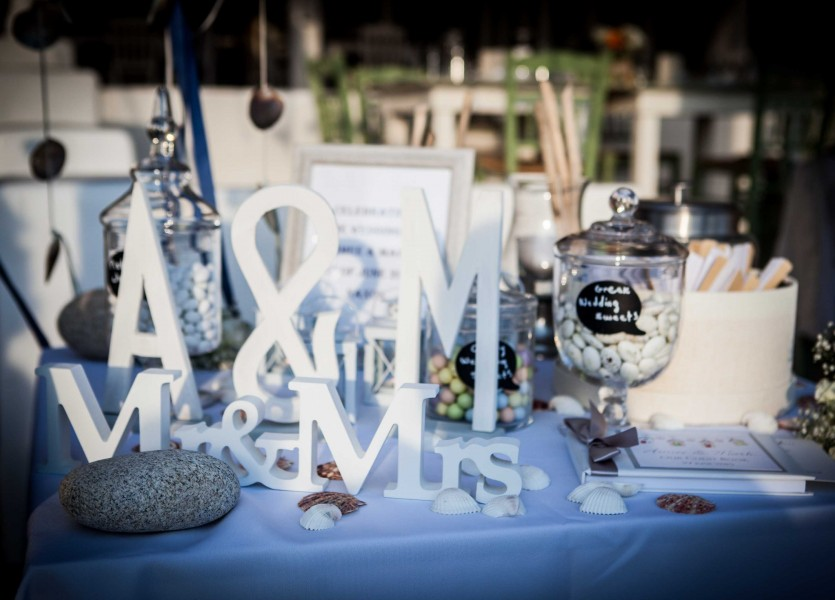 Wish Table Decoration in Naxos Wedding