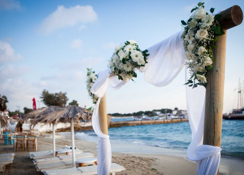 Wedding on the Beach in Naxos