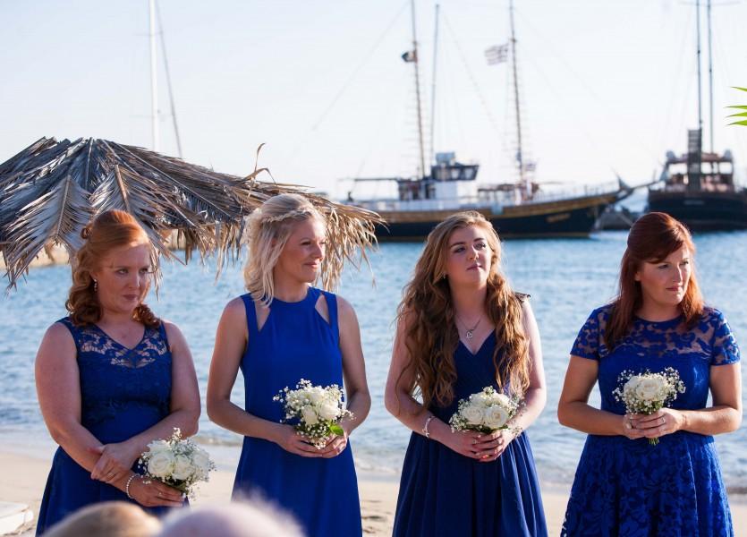 Blue Beach Wedding Bridesmaids Dresses.
