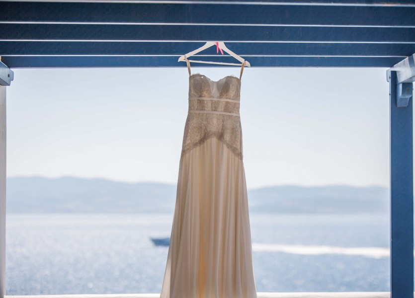 Wedding Dress in Naxos Wedding.
