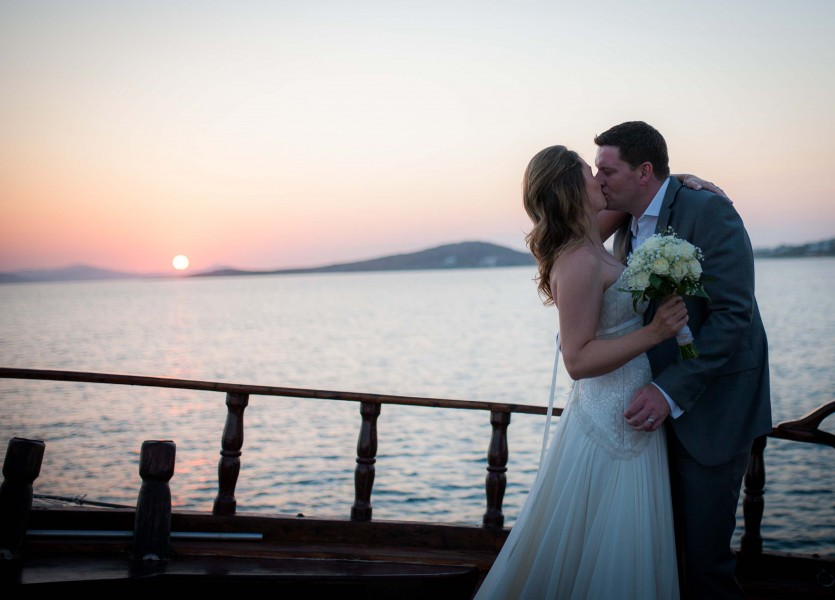 Sunset in Naxos,Greece. Plan your wedding in Naxos.