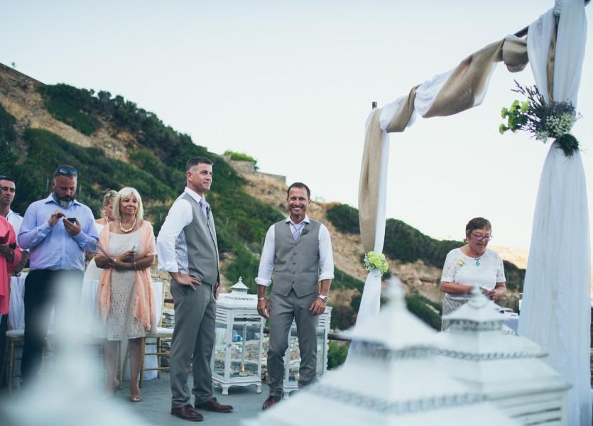 Island Wedding in Sifnos Greek island.