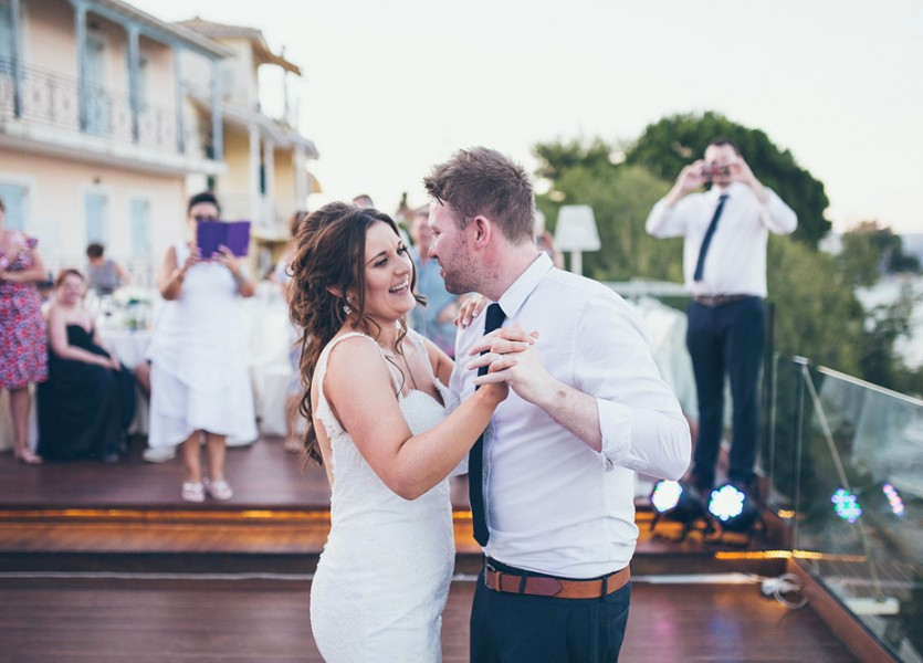 First Dance in Lefkada Wedding