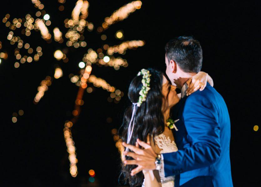 fireworks in mykonos