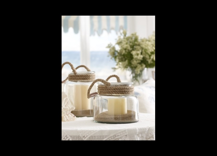Beautiful Candle Holders for Beach Wedding in Chalkidiki
