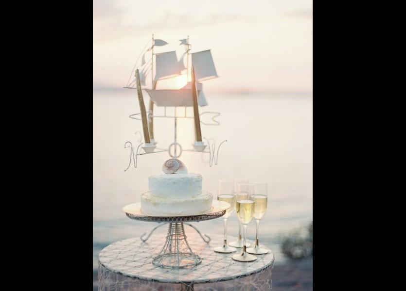 Nautical Wedding Cake in Chalkidiki