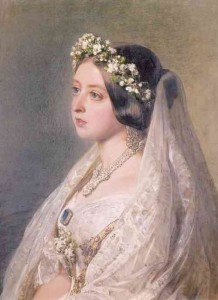 Queen Victoria in her wedding outfit, Winterhalter, 1847. Photo Royal Collection