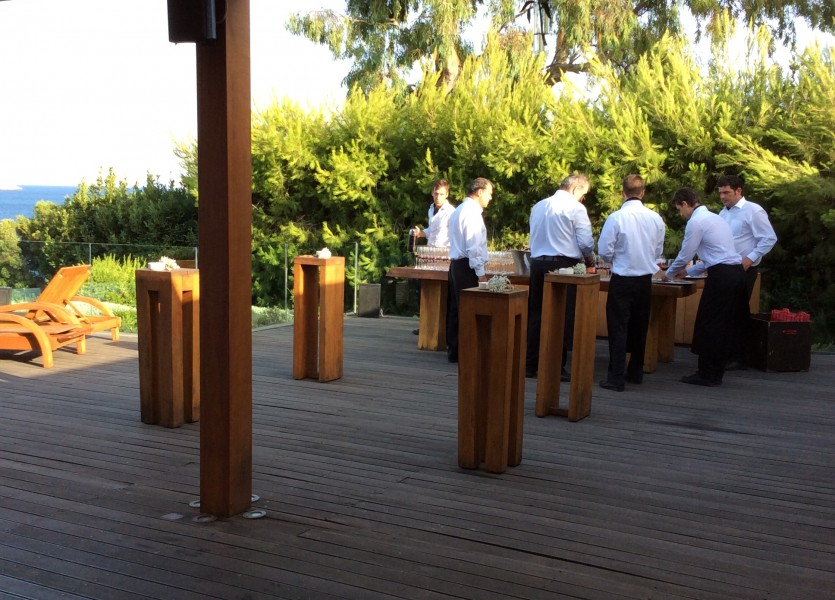 The deck: Athens Riviera Wedding