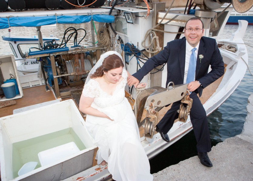 Boat Wedding in Kavala