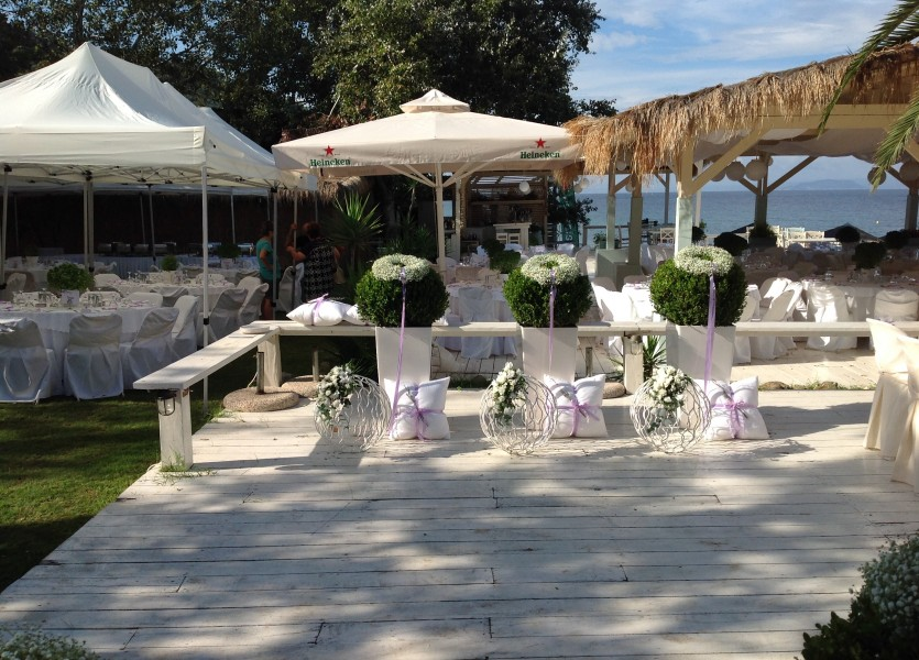 Beautiful Deck on the beach in Chalkidiki