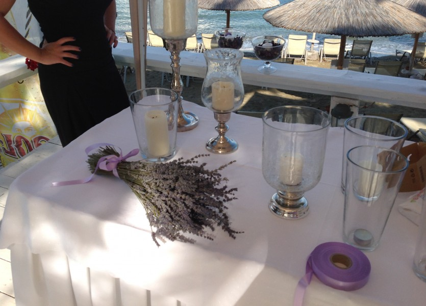Lavender Decoration for Beach Wedding