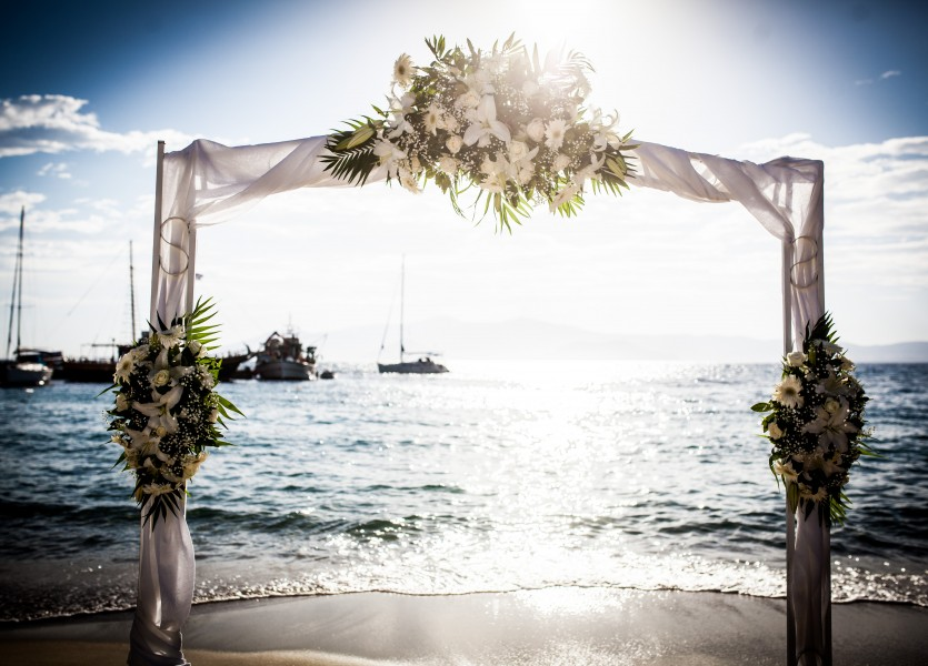 Beach Wedding Ceremony Greece