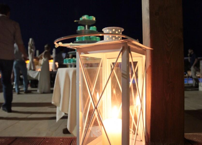 White Lantern Decor