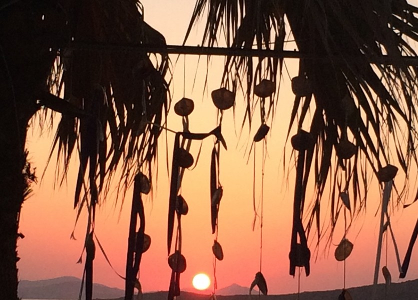 Wedding Venue with magical sunset in Naxos