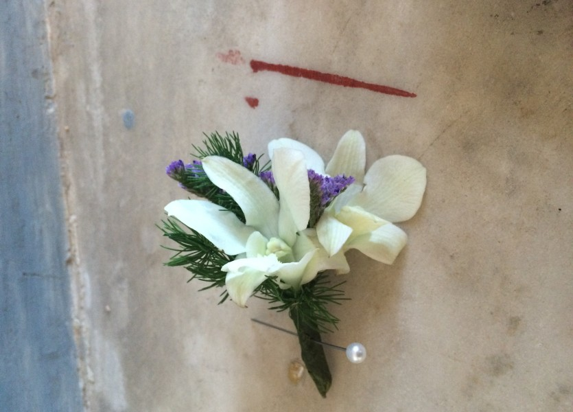 Buttonhole in Syros Wedding