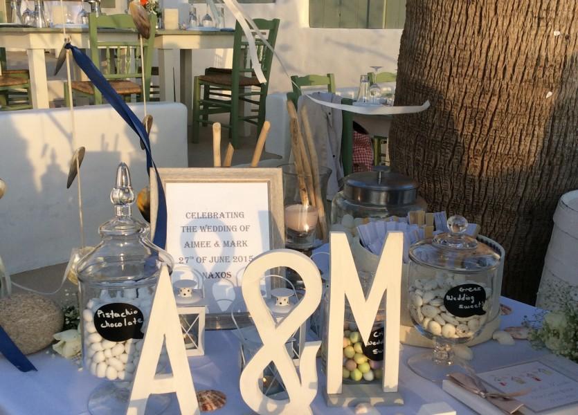 Wish table. Greek Wedding Planner.