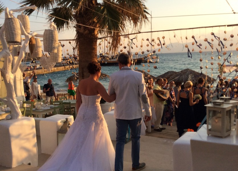 Walking down the aisle in Naxos