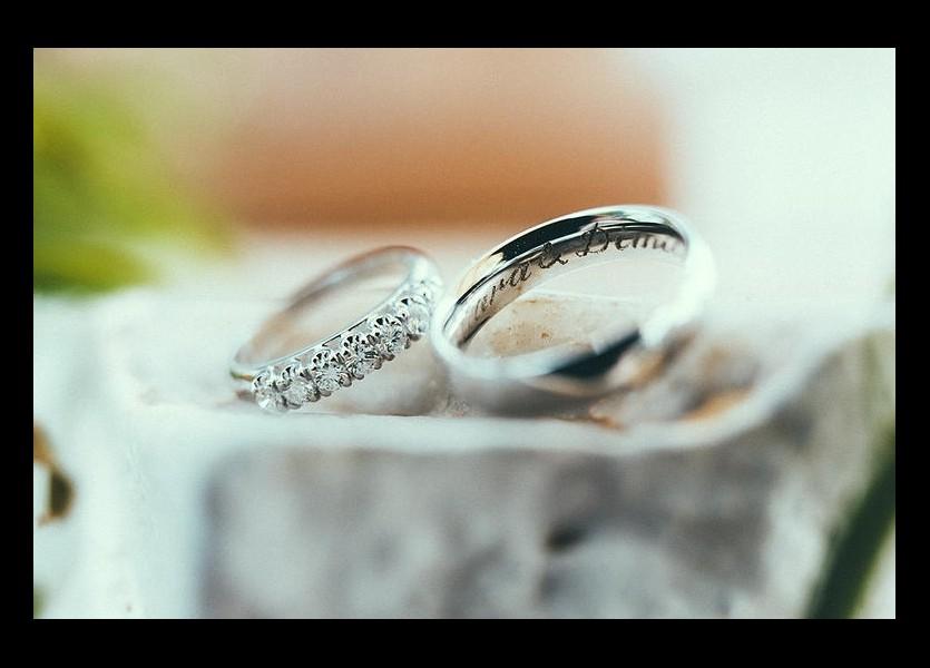 Wedding Rings in Hydra Wedding