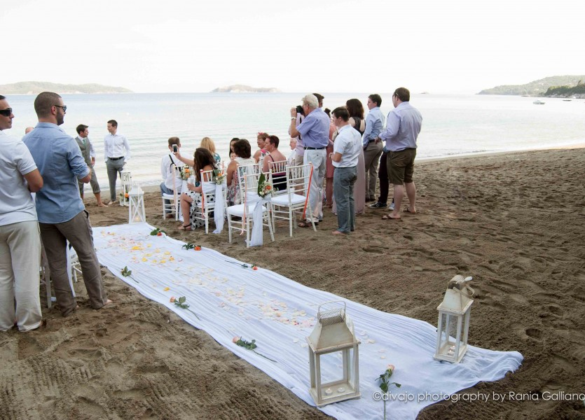 Beach Wedding Ceremony in Skiathos