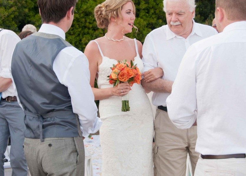Walking down the aisle in Skiathos