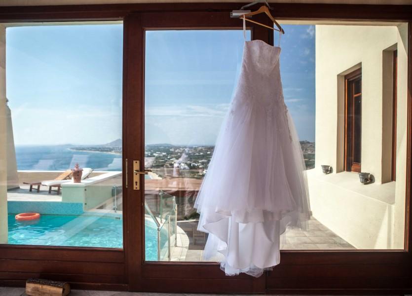 Wedding Dress for Beach Wedding Ceremony in Naxos