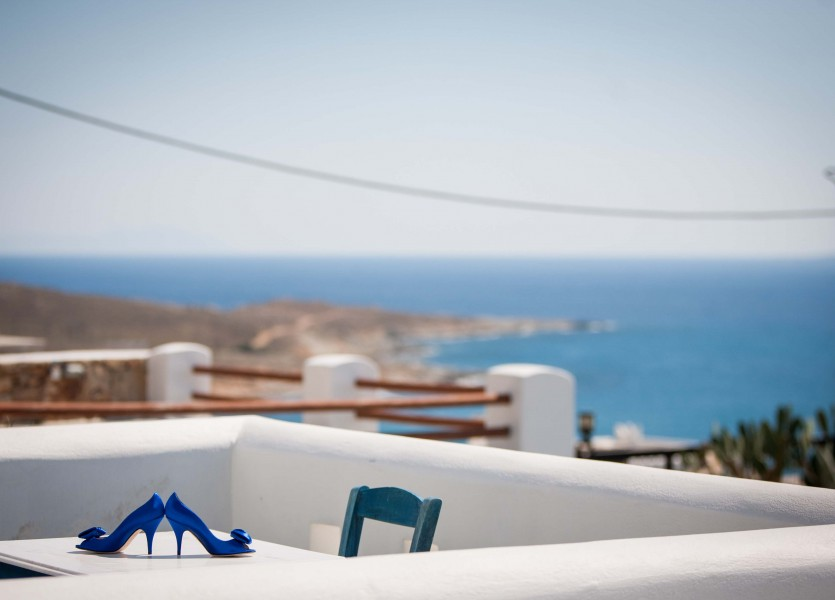 Aegean Blue Wedding. Villa for Wedding in Naxos.