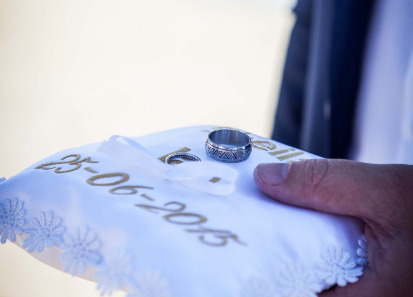 Ring Pillow for Beach Wedding.