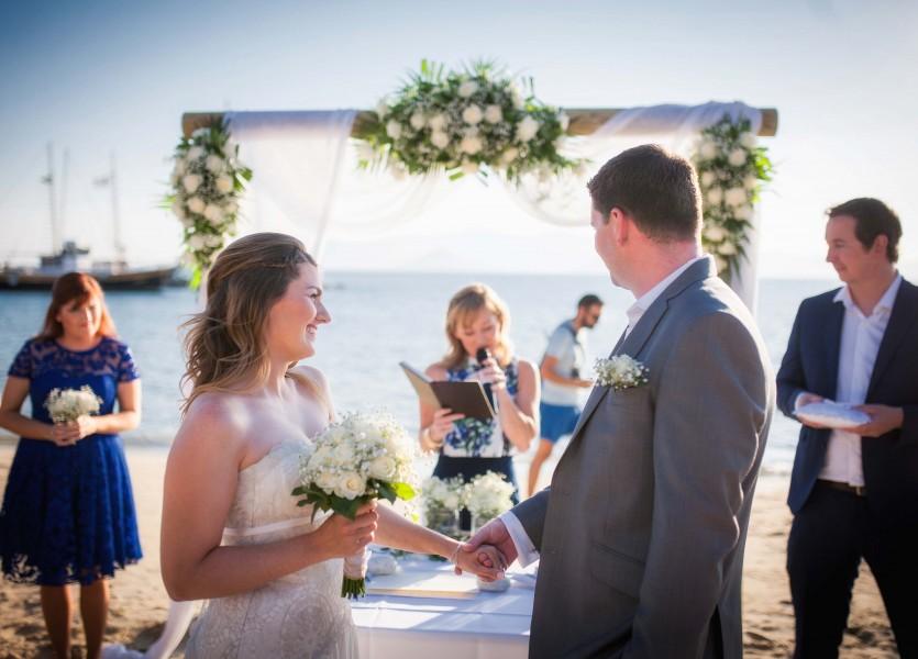 Beach Wedding in Naxos.