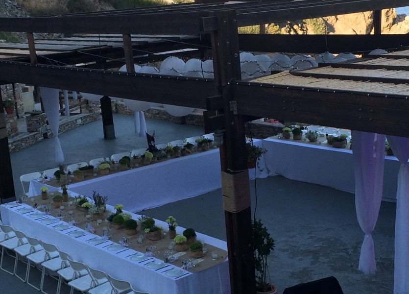 Ideal seating arrangement for a boutique wedding.