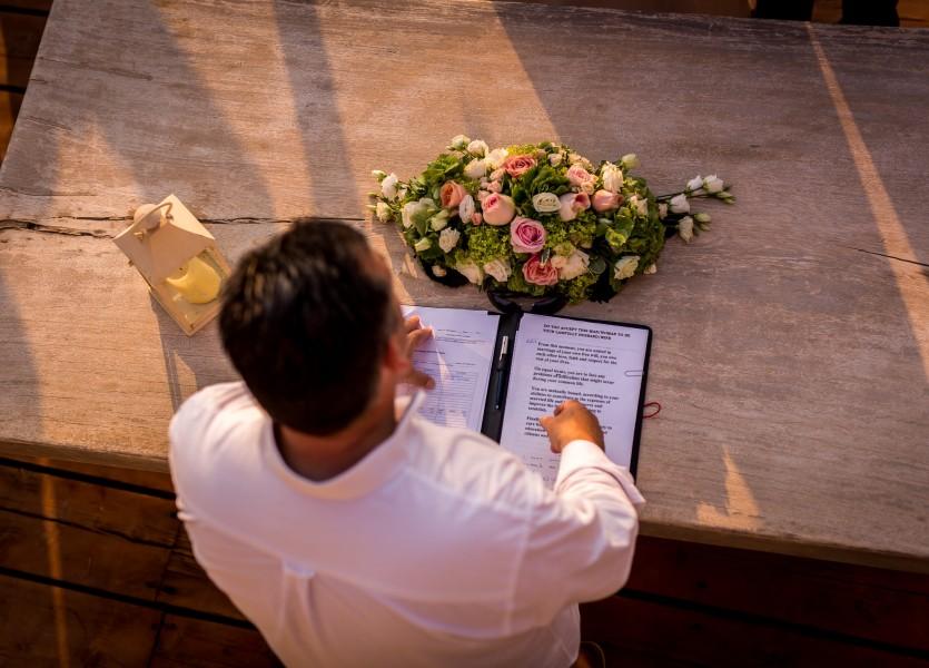 Registrar in Hydra Wedding