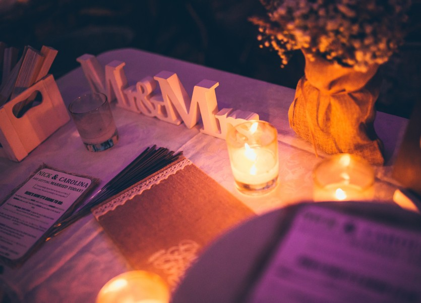 WishTable in destination wedding in Greece.