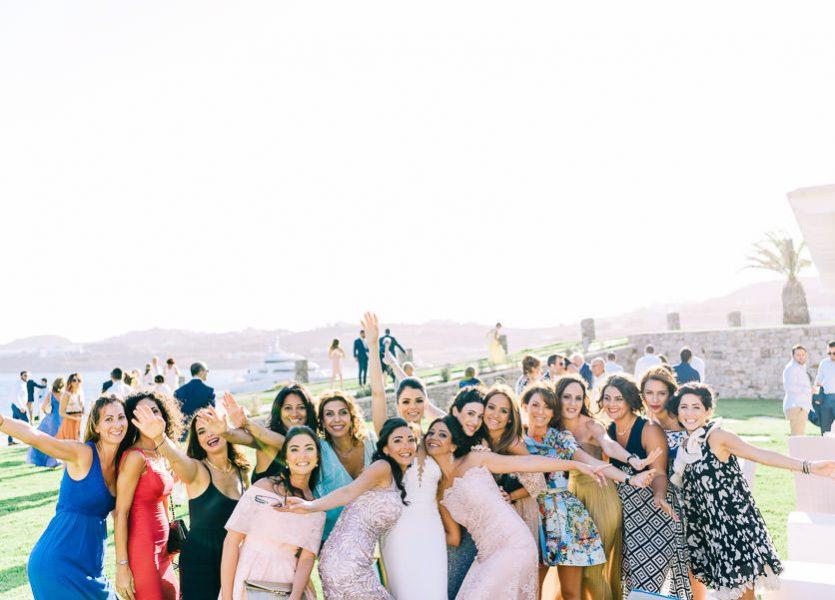 brides friends mykonos