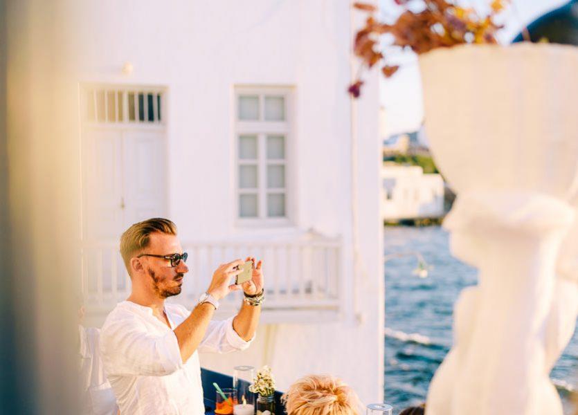 pre wedding party in mykonos